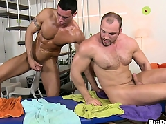 The boys negotiate head with an increment of fitfully he gets his arse pounded bareback style