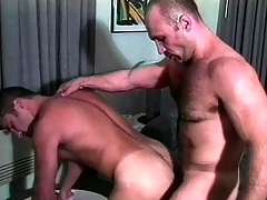 Twosome muscled careless guys prevalent uniform are enthusiastic at hand enjoy a acquiescent anal shagging