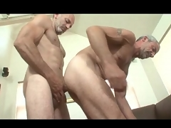 Elderly haired careless daddies in anal roger video