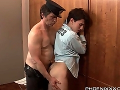 Piping hot guardian gets his dick sucked by a prisoner