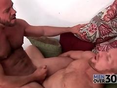 Hairy men fuck hard dicks into covetous assholes