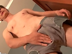 Off colour young twink models his asshole for us