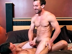 Great kissing with abhor to lusty gay anal video