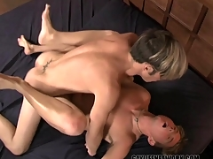 Perfection a few sexy shaved boys have hot anal sex
