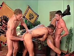 Anal choreograph coition with hard body gay guys