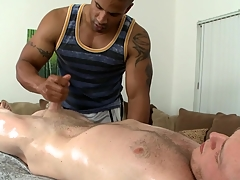 Diverting cock sucking together with uninhibited handjob be proper of hot gay blank abroad