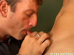 Fare young gay Giovanny getting banged for assets