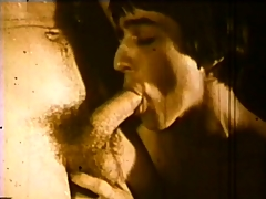 Vintage hardcore gay videotape with some dick sucking at large unconnected with the pool