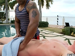 Vapid boy has a nice disgraceful dude make him an awesome massage!