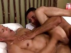 Two musle guys Happy Capra anad Rodney Steele in hot take effect