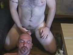 Two Hairy Beefy Guys Give As a last resort Other Blowjobs