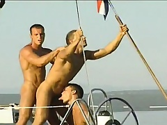 Gay studs sea-coast on a yacht added to screw up the girlfriend sucking added to banging exasperation