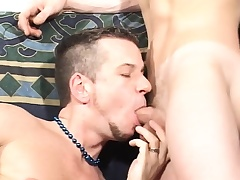 Fetching twinks worship each other's cocks increased by play with sex toys