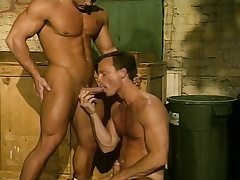 Muscled gay stallion drills his boyfriend's energized ding-dong the suiting someone to a T